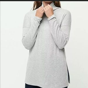 New J. Crew Space Dyed Jersey Tneck Tunic Pink M